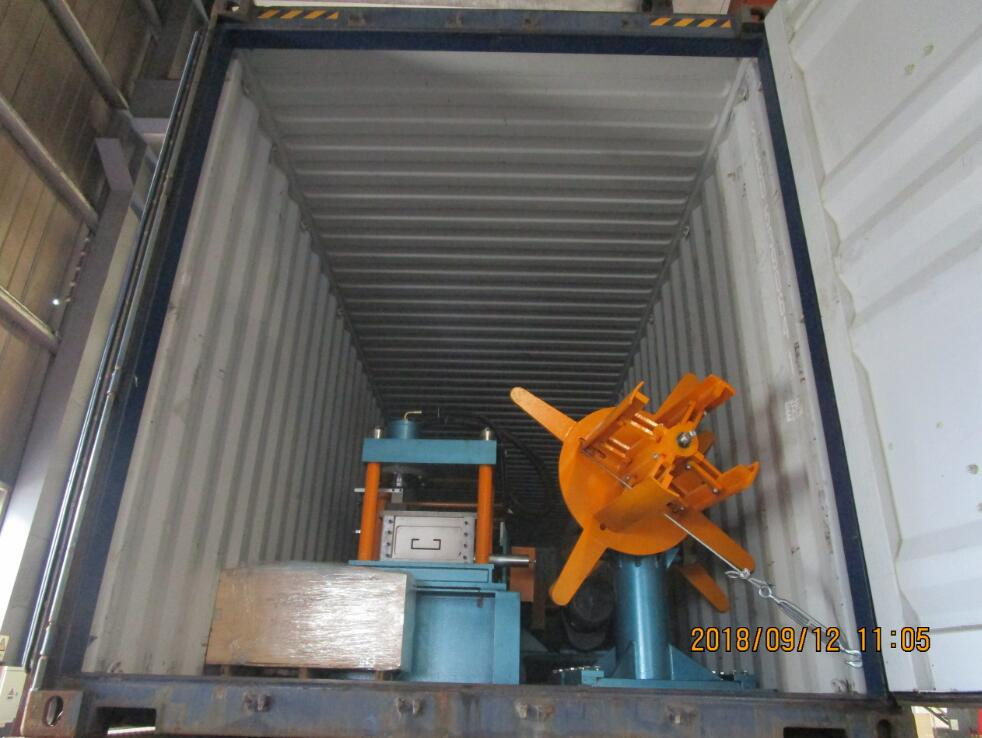 Delivery Of C Purlin Roll Forming Machine To South American Country On September 12,2018
